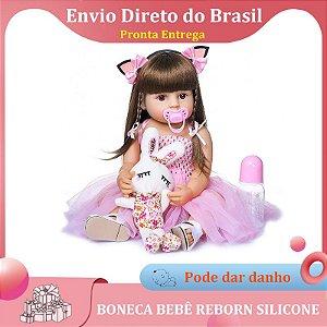 BEBÊ REBORN FADINHA PINK REALISTA BANHO LIBERADO COM PELÚCIA BRINDE PRONTA ENTREGA
