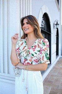 Blusa Crepe Floral - Ariane