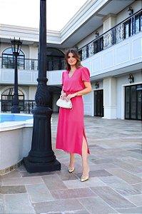 Vestido Linen Fenda