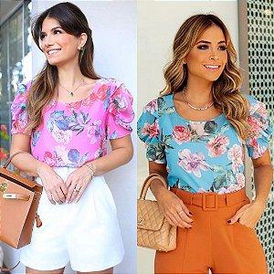 Blusa Floral com Regata - Alicia