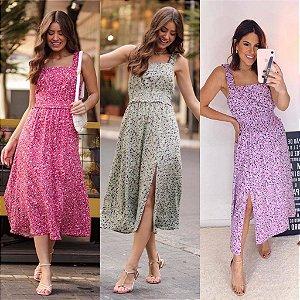 Vestido Viscose Print