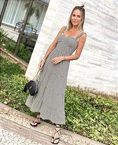 Vestido Malha Vichy