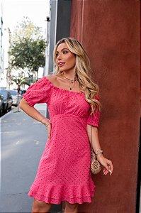 Vestido Laise Pink - Karina