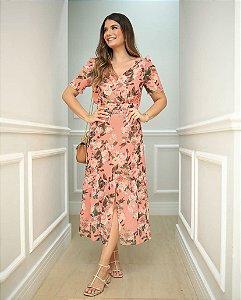 Vestido Floral Midi - Doce Flor