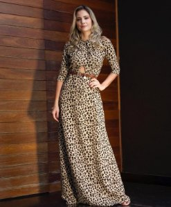 Vestido Animal Print - Alianne
