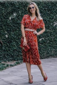 Vestido Linho com Cinto - Bruna