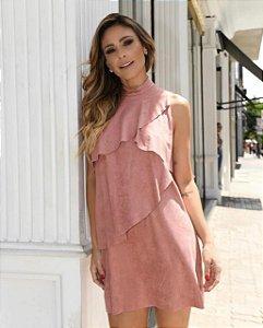 Vestido Suede (Preto e Rosê)