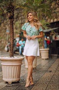 Blusa Crepe Floral (MINT e AMARELO)
