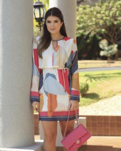Vestido Midi Print Abstract