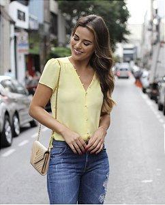 Blusa Crepe Pérolas - Denise (Cores)