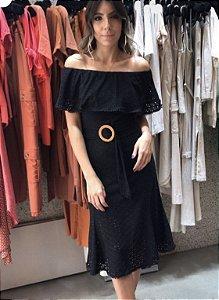 Vestido Malha Laise ( Black)