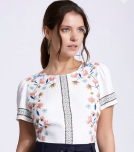 Blusa Crepe Floral - Fabiana