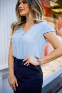 Blusa Crepe - Kristy (cores)