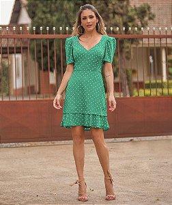 Vestido Poá Verde