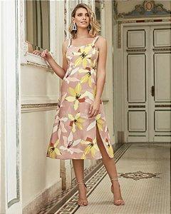 Vestido Midi Print Floral