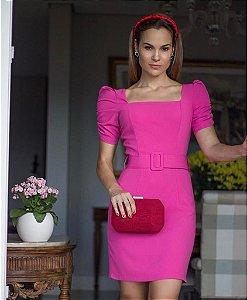 Vestido Rubi (Pink e Preto)
