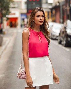 Regata Crepe Pink Amarração