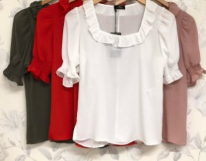 Blusa Crepe - Maria (cores)
