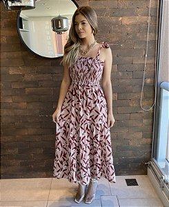Vestido Midi Floral - Giovanna