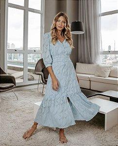 Vestido Crepe Jacquard (Cores)