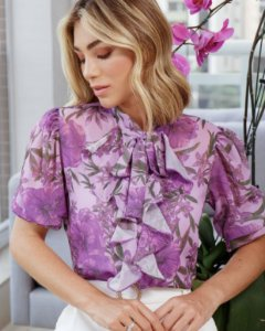 Blusa Floral + Regata - Mirian