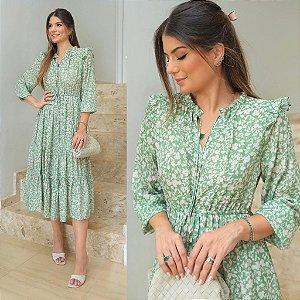 Vestido Green Flowers