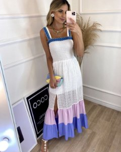 Vestido Julia ( Laise, Tricoline e Lastex)