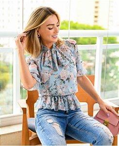 Blusa Floral Laço - Mariana