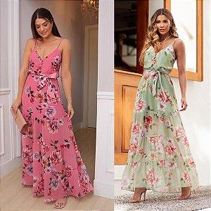 Vestido Longo Floral - Alyssa
