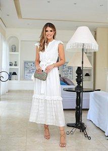 Vestido Viscose Jacquard - Gisela