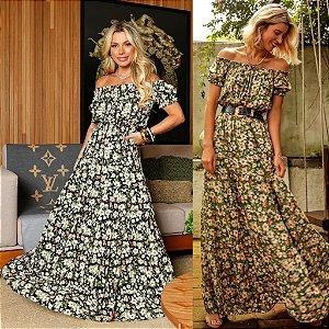 Vestido Viscose Floral - Lena