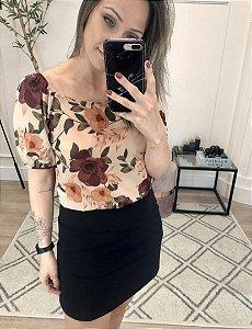 Blusa Crepe Floral - Ursula