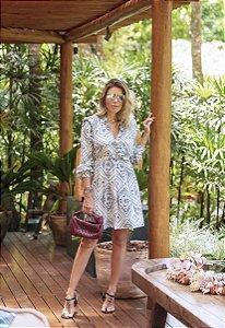 Vestido Estampa Bandana ( com ombreiras)