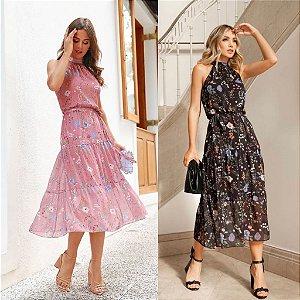 Vestido Midi Floral - Letícia
