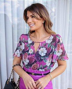 Blusa Crepe Floral - Micaela