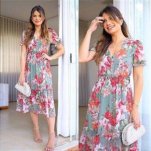 Vestido Midi Floral - Viviane