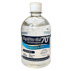 Álcool em Gel 70 Antisséptico Higienizador De Mãos 440g Septo Pro Gel Prolink Caixa com 12 Unidades