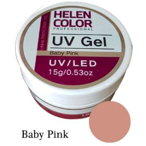 Gel Linha Baby Pink Helen Color Uv Led Unha Acrygel 15g - 3 Unidades