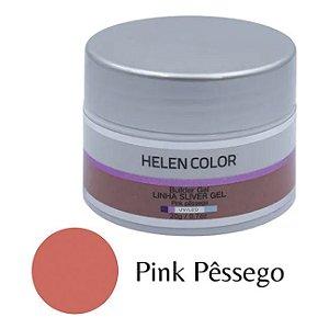 Gel Para Unhas De Gel Helen Color Silver - Pink Pêssego 20g - 3 Unidades