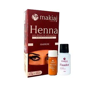 Henna Makiaj para Design Sobrancelha Marrom 1,5g + 10ml - 3 Unidades