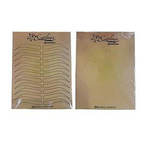 Pele Artificial Treino Microblading Designer de Sobrancelha - 3 Unidades