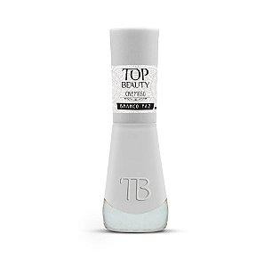 Esmalte Premium Cremoso Top Beauty 9ml Branco Paz - 6 Unidades