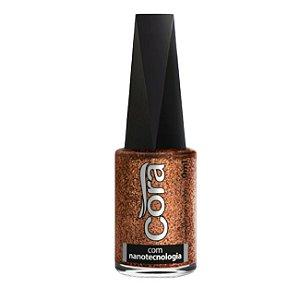 Esmalte Cora Glitter Copper 9ml - 6 Unidades