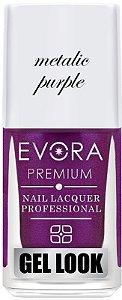 Esmalte Évora Premium Gel Look Metalic Purple (Caixa com 6)