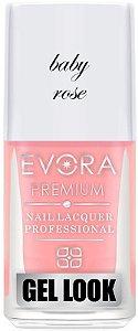 Esmalte Évora Premium Gel Look Baby Rose (Caixa com 6)
