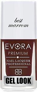 Esmalte Évora Premium Gel Look Best Marrom (Caixa com 6)