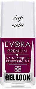 Esmalte Évora Premium Gel Look Deep Violet (Caixa com 6)