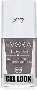 Esmalte Évora Premium Gel Look Grey (Caixa com 6)
