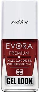 Esmalte Évora Premium Gel Look Red Hot (Caixa com 6)