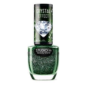 Esmalte Vegano Studio 35 Esmeralda Rara Coleção Crystal Effect III 9ml - 6 Unidades